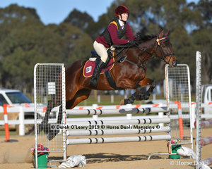 """Leilani Justice rode """"Miss Amity"""" representing Melton & District Pony Club, in the B Grade Pony Club class"""