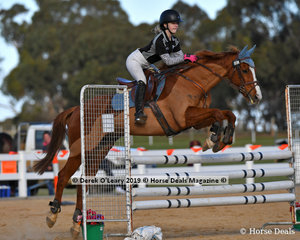 """Nellie Rogers rode """"Rocket Rod"""" representing Little River & District Pony Club in the B Grade Pony Club Class"""
