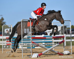 """Stella Eales in the Open B Grade riding """"Poor Mans Dream"""