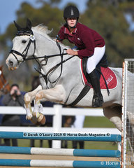 """Grace Symes placed 3rd in the Pony Club C Grade Championship riding """"Cisco Kid"""" representing Seville Pony Club"""