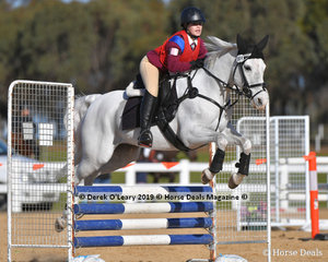 """Hayley Fino placed 4th in the Pony Club C Grade Championship riding """"Jayde"""" representing Macedon Pony Club"""