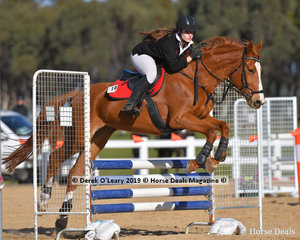 "Hayley McGrady riding ""Bonjour Paris"" in the Pony Club C Grade Class representing Oaklands Pony Club"