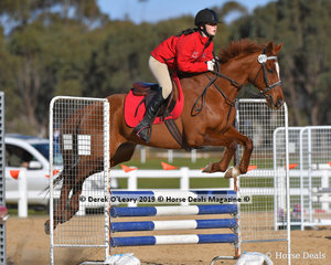 """Second place in the Pony Club C Grade championship went to Alison Noble riding """"Spelldancer"""" representing Lancefield and District Pony Club"""
