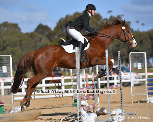 """Stacey Tucker riding """"Tullows Touch o Frost"""" in the Open C Grade"""