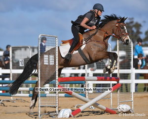 """Wndy Whiting in the Open C Grade riding """"Warringa Constellation"""""""
