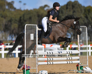 """Abbie Tonkin in the Open C Grade riding """"Gundemain Touch of"""""""