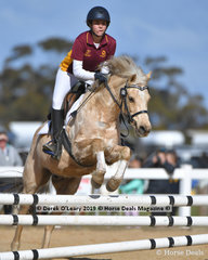 """Jordyn Pretty-Murphy rode """"Good Luck Charlie"""" placing third in the Pony Club D Grade 2 phase representing Melton & District Pony Club"""