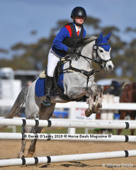 """Emma Tong in the Pony Club D Grade representing Bullengarook Pony Club riding """"Fairlight Acres Kane"""""""
