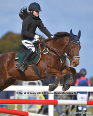 """Winner of the D Grade 2 phase Laura Know riding """"Clancy"""" representing Glenlyon & District Pony Club"""