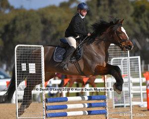 "Overall Pony Club D Grade Champion, Amelia Tsilfidis riding ""Time To Shine"" representing Gisborne Pony Club"