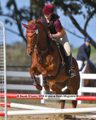 """Mikayla Bartlett rode """"Happy As Larry"""" in the Pony Club E Grade Class representing Melton & District Pony Club"""