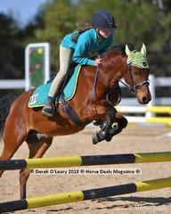 "Brodie Haliday Tough riding ""Percy"" in the Pony Club E Grade representing Riddells Creek Pony Club"