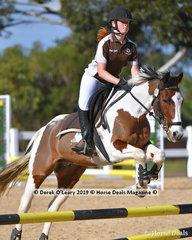 "Sarah Robbins and ""Banjo"" in the Pony Club E Grade two phase representing Bacchus Marsh Pony Club"