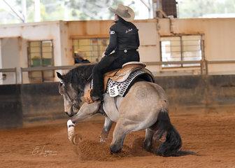 Kate Elliott on Fizzics in the Junior Horse reining