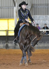 Proud Lil Bo Duke & Hayley Smith with Hayley Smith in the Junior horse Reining