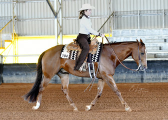 Charlotte Mansley riding My Deliberate Breeze in the Youth Ranch Riding