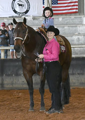 Ellena Thomas riding SVQ Memums Irrezippable with Kimberley Lyons.
