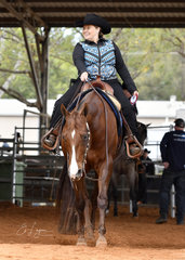 Cherril Sheehan and Mr Expensive, all smiles after the Select Amateur Horsemanship.