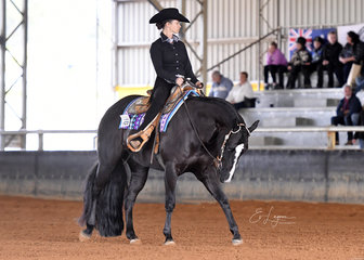 Jodi Jakubenko riding Special Kinda Lazy in Amateur Horsemanship.