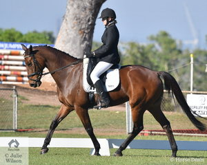 Samantha Overall riding Harvest Rafaela took second place in the Medium 4C.