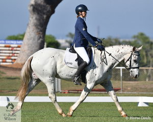 Susanne Brutch and My Boy Memphis competed in the Novice 2C on the second day of dressage at the 2019 Royal Darwin Show.