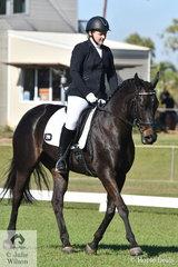 Michaela Bradley riding Forevermore won the Novice 2B.