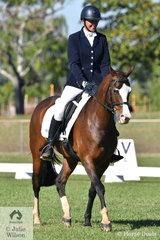 Terri Walker was pleased with the preformance of her Arabian, Al-Kareeme Hogo Boss in the Novice 2B.
