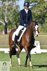 Terri Walker was pleased with the preformance of her Arabian, Al-Kareeme Hogo Boss in the Novice 2B.