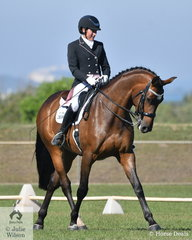 The well presented pair of Mandy Smith and CP Ping won both the Advanced 5B and 5C.