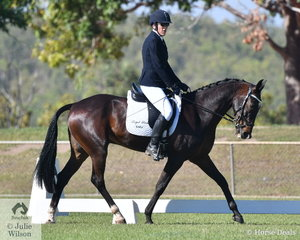 Lorraine Scott and her well schooled Standardbred, Royal Pride took third place in the Novice 2C.