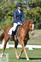 Kristen Leslie rode Dryandri Jazminum to second place in the Novice 2C.