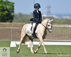 Ashleigh Overall rode her delightful, Glynarra Park Libretto to win the Pony 1B.