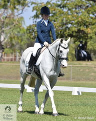 Emily Hubble rode the Off The Track Thoroughbred, Optimum Pride to third place in the Novice 2B.