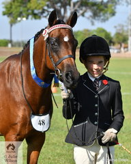 Rudi Walker Sangaster was thrilled to take out the class for Arabian Derivative Mare or Filly with her Tapu Daquiri.