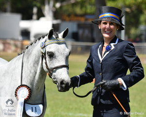 Susie White's Whitfields Serenade won the class for Northern Territory Bred.