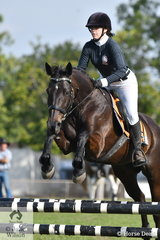 Sophie Carlton rode Midnight Marvel to win the 80cm One Round Stakes.