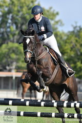 Nicole Mutimer riding El Gems Black Beauty took 2nd place in the 80cm One Round Stakes.