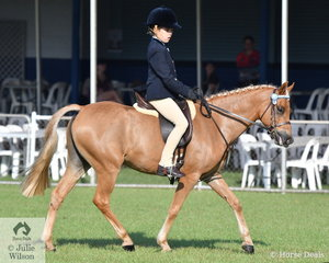 Denver Vivian rode Mallawa Park Just Kiddin to 2nd place in the Novice Rider under 14 years.