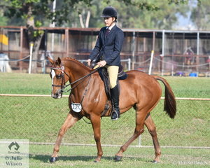 Daniel McBride rode , Aesthic Warrior to take 2nd place in the Intermediate Rider 18 and over.