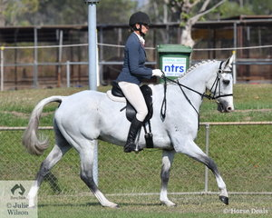 Anne Maree Cruickshank rode the Stock Horse Wynola Claytons Rumour in the Rider 35 and over.