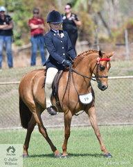Charli Hebbron rode Cheraton Work of Art to win the Novice Rider under 14.