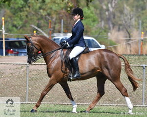 Jamiee Bruggerman rode Kelaray Gucci to take out the Champion Rider over 18 years.