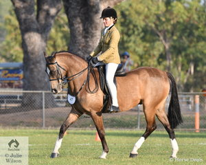 Jamiee Bruggerman rode Helena Walker Sangster's Heste Arabique Mirror Image to be declared Reserve Show Hunter Galloway.