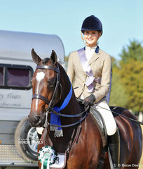 """Taryn Walsh sat in for Emma Adams at the presentations for the Small Show Hunter Hack event, in which Alyssa Walsh's """"Illarak Donnerge"""" was Runner Up."""