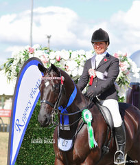 """Smartest On Parade and Runner Up Large Saddle Horse went to the LeeAnn Olsen and """"Black Pearl"""" combination."""