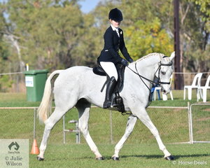 Emily Hubble rode her Thoroughbred, Optimum Prime to second place in the Novice Hack class.
