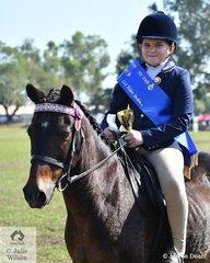 Alexis Strong riding Pauly Pizza was awarded Champion Sub-Junior Rider under 10 years.