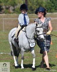 Lucy Janson enjoyed riding in the Sub-Junior ring on her well turned out pony, Royland Blue Rose .