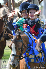 Cooper Triggs won lots of ribbons in the Sub-Junior ring and enjoyed the Grand Parade with his sister Pippa.