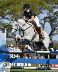 Indianna Evans and her wonderful Al Zahra won the 90cm class.